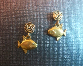 Unique Handcrafted Magnetic Dangle Fish Earrings!