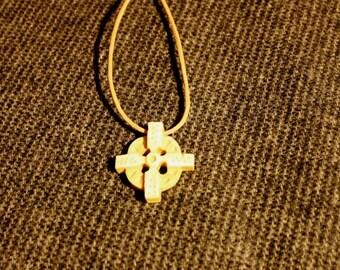 Hand carved Odin's Cross pendant