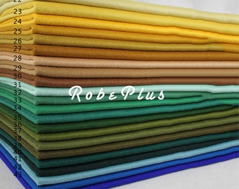 Wool Cashmere Blend Fabric - Extra Soft Wool Blend Fabric - Blue Wool Fabric - Brown Wool Fabric - Green Wool Fabric - Yellow Wool Fabric -1