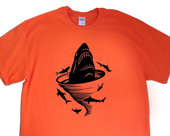 "New ""Shark Tornado"" Unisex Tshirt for a Shark Tornado Movie Party, Friend, Party, Boyfriend, Husband, Fiance, Gift"