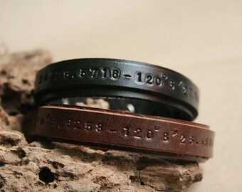 2x Matching Bracelet, His and Her Bracelets, Couple Bracelet, Best Friend bracelet, Leather Cuff Bracelet, Personalized leather bracelet