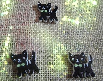Wholesale - 30pcs  black Cat  Wood button ,SCRAPBOOKING SUPPLIES,  Holloween decoration