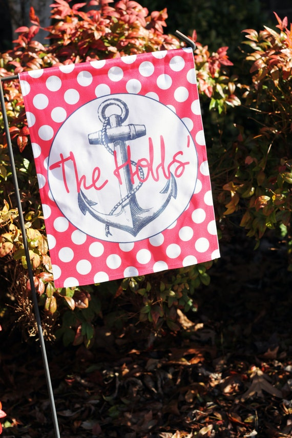 Personalized Garden Flag Nautical Designs By