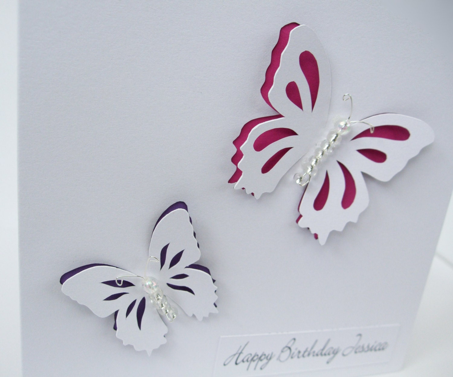 Butterfly Birthday Card Beautiful Paper Cut Butterflies – Butterfly Birthday Card