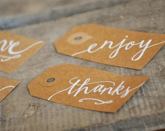 Items similar to Handwritten Calligraphy Personalized Name Tags