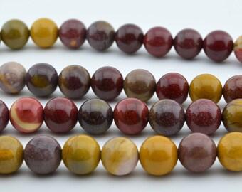 "15.5""   8mm  Mookaite  Gem  Round  Beads"