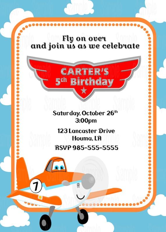 printable planes birthday party invitation plus free blank