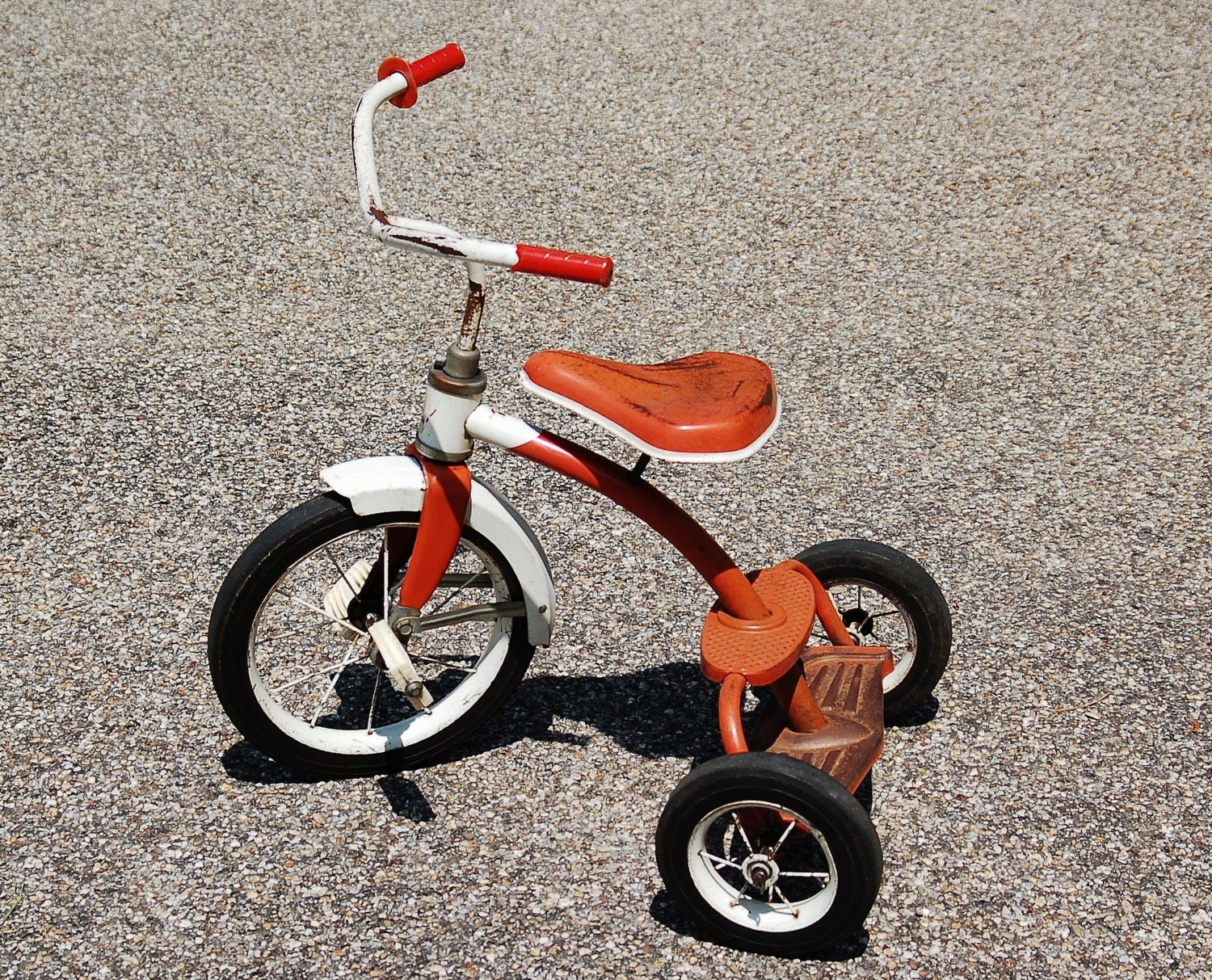 Makers Of Antique Tricycles : Vintage hedstrom child s tricycle mid century orange