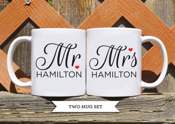 Customized Wedding Coffee Mugs : mug set - Custom Wedding Coffee Mug - Custom Mr / Mrs Mug - Custom ...