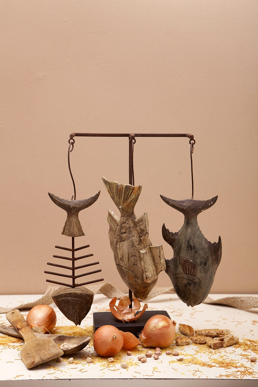 Fish Decor.Wooden Fish figuresFish Shop Window by ...