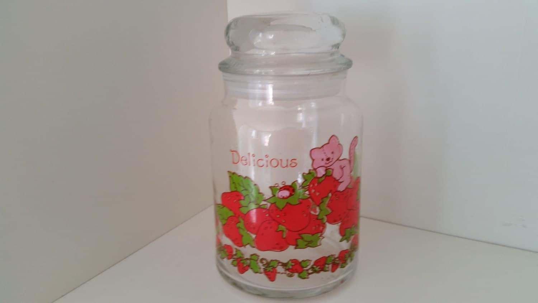 Vintage kitchen decor kitchenware 1980 39 s strawberry by - Strawberry kitchen decorations ...