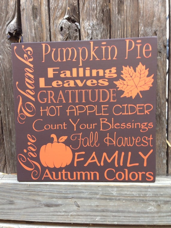 Thanksgiving Fall Holiday Family Wood