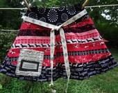 Little Girl's skirt, Fleur de lis, Jupe, French language print size 6