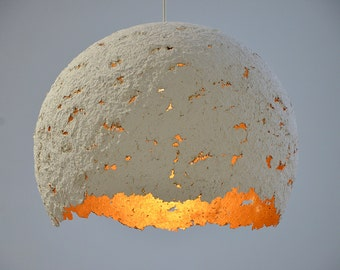 """Handmade recycled paper lampshade  """"Egg"""" any color you want"""