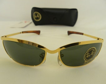 New Vintage B&L Ray Ban Olympian VI Deluxe Gold W1982 Predator Sunglasses USA