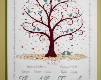 Personalized Family Tree - With Scripture - 11x14