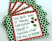 Elf Quote Christmas cards (blank, set of 5, with envelopes)