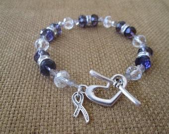 Pancreatic Cancer Awareness Swarovski Bracelet by The Darling Duck