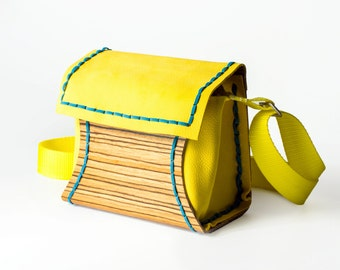 sale wood and leather purse Rwoodb