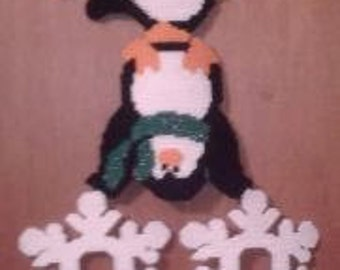 Penguin Stack Up Plastic Canvas Pattern