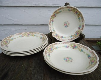 Shabby Chic Berry Bowls and Saucers