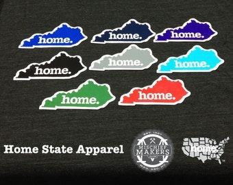 Kentucky home. Colored Vinyl Sticker