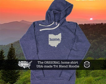 Tri Blend Pull Over Hoodie Ohio Home Sweatshirt