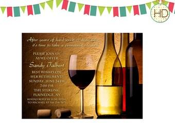 Wine Invitation, Wine Cork Invitation, Wine Party, Adult Birthday Party, Anniversary Party Invite, Surprise Party