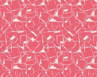 Pat Bravo for Art Gallery Fabrics, NouvElle New Look Coral Fabric 1/2 Yard