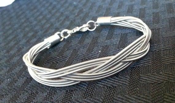 braided guitar string bracelet. Black Bedroom Furniture Sets. Home Design Ideas