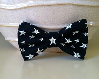 Dog Bow Tie- Black with Stars