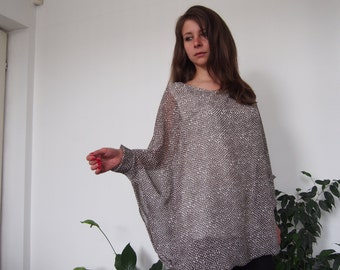 Over-sized Long Chiffon Tunic Long Tunic Bolloon Tunic