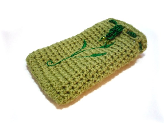 Items similar to Green Crochet Tarot Bag with Sage ...