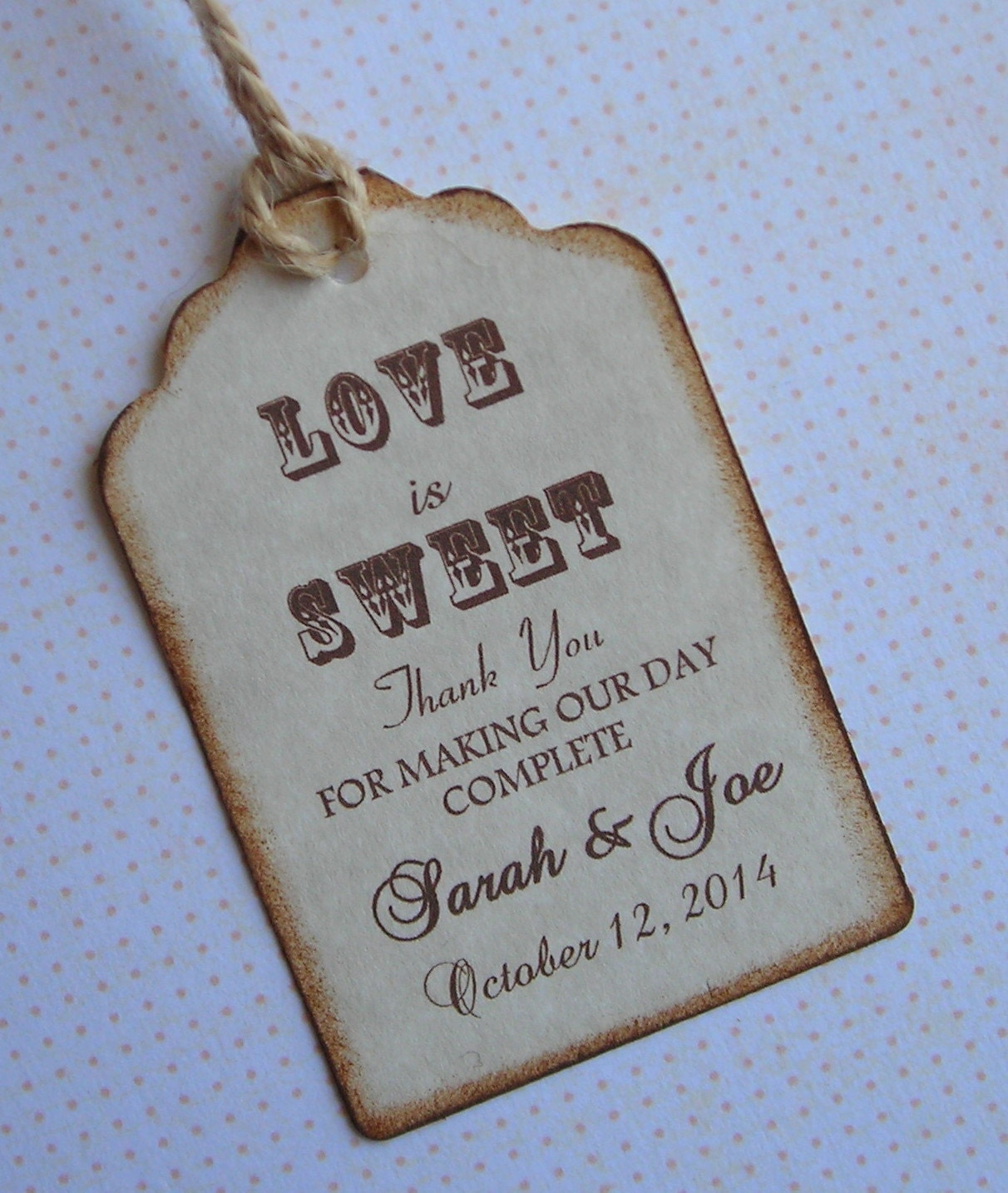 Wedding Favor Tags Wedding Tags 50 by WrapupthePartyShop on Etsy