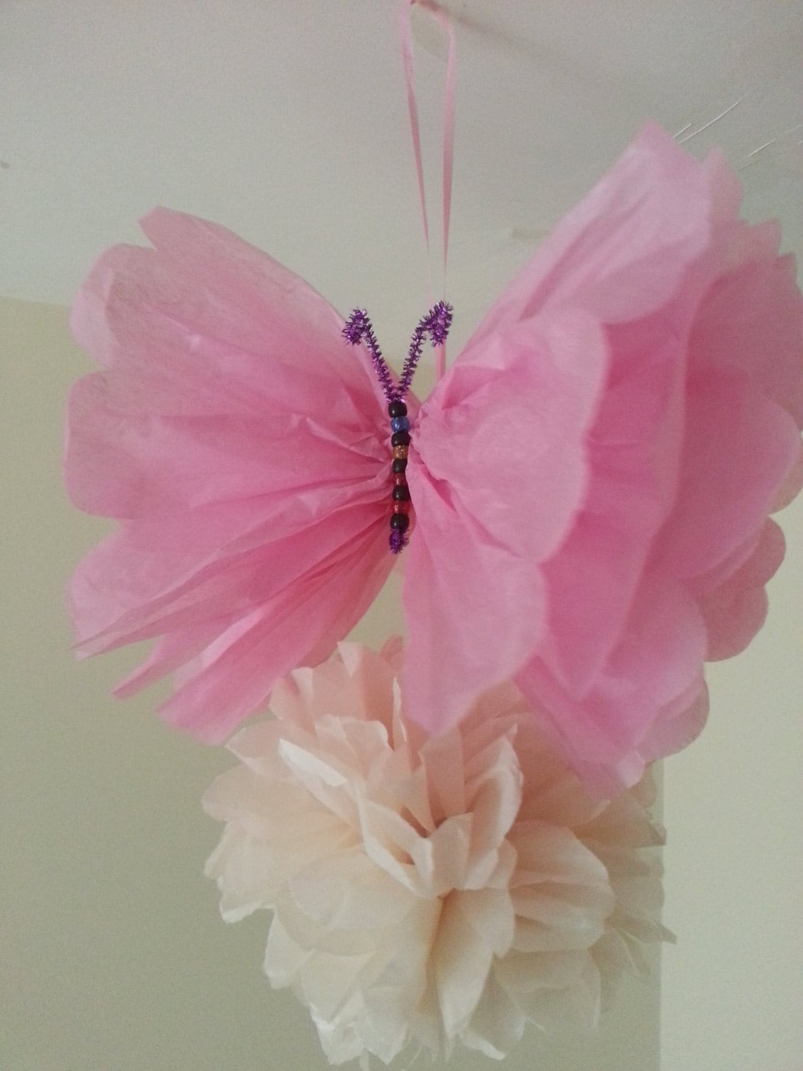 wedding party decorations tissue paper pom poms butterfly