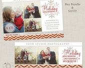 Bundle Holiday Mini Session Template - Photography Marketing Board & Facebook Timeline 067 - C228, INSTANT DOWNLOAD