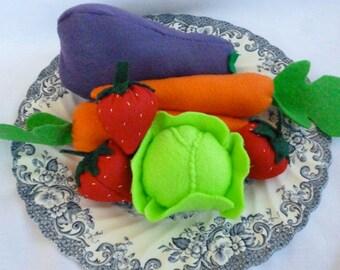 Felt Food Fruit and Vegetable Set