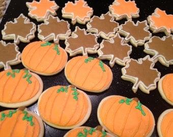 Fall Sugar Cookies....leaf sugar cookies...pumpkin sugar cookies