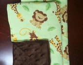 Lion Burp Cloths with Brown background- Set of 2