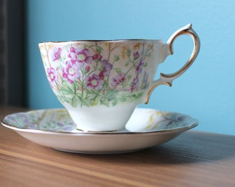 Vintage Royal Albert  Cup and Saucer - Wild Geranium