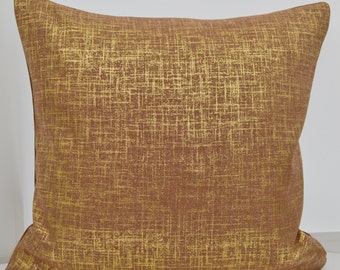 Brown Pillow Cover,Shimmery  Pillow Cover,Gold Pillow Cover