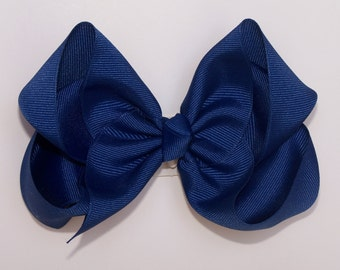Royal Blue Large Boutique Bow Girls Big Hair Bow Girls Bow Jumbo Bow Royal Blue Hair Bow