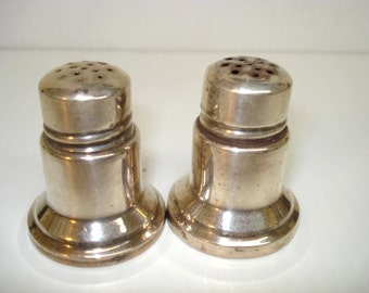 Very Nice Vintage STERLING SALT and PEPPER  Shakers by Birks Art Deco Style