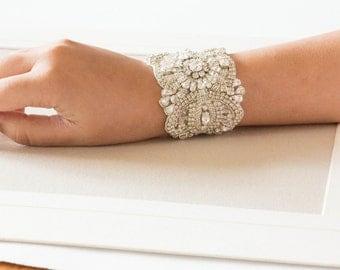 Beaded bridal bracelet - BA03