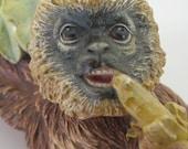 Bossons Monkey Chalkware Wall hanging Chalkware Monkey Mid century Monkey Gibbon