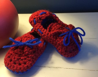 Crocheted Toddler Boat Shoes