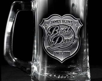 World's Best Dad Beer Mug Glass, Father's Day Gift Ideas