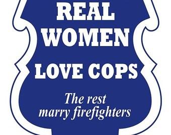 Real Women Love Cops Decal - 4 in. Decal SKU: D1132