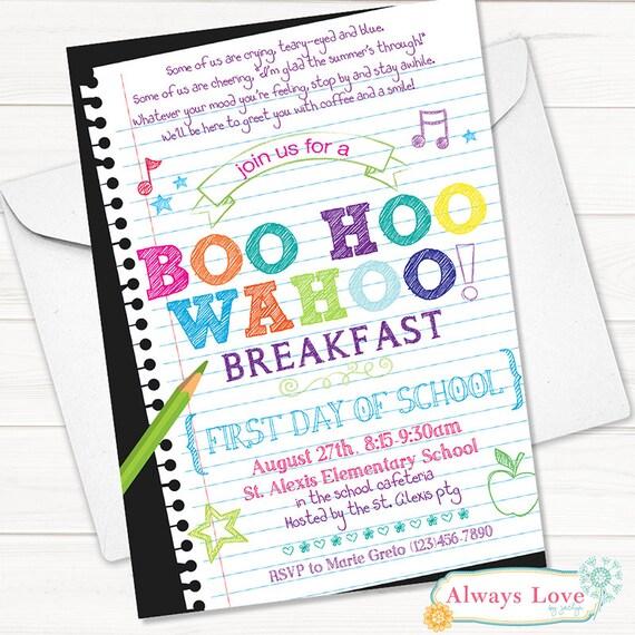 Boo Hoo Wahoo Back to School Chalkboard Printable