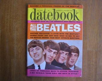 Datebook published by Young World Press, Fall issue 1964, Volume 4, Number 12    1964 Beatles magazine
